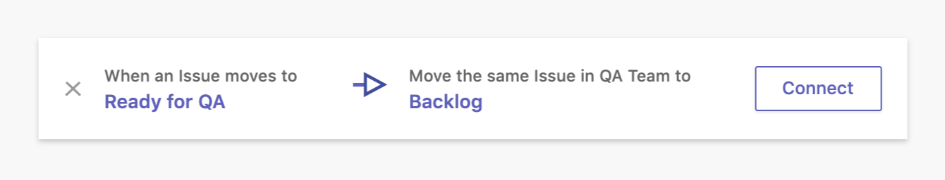 example of workflow automation: moving an issue to the backlog from the Ready for QA state
