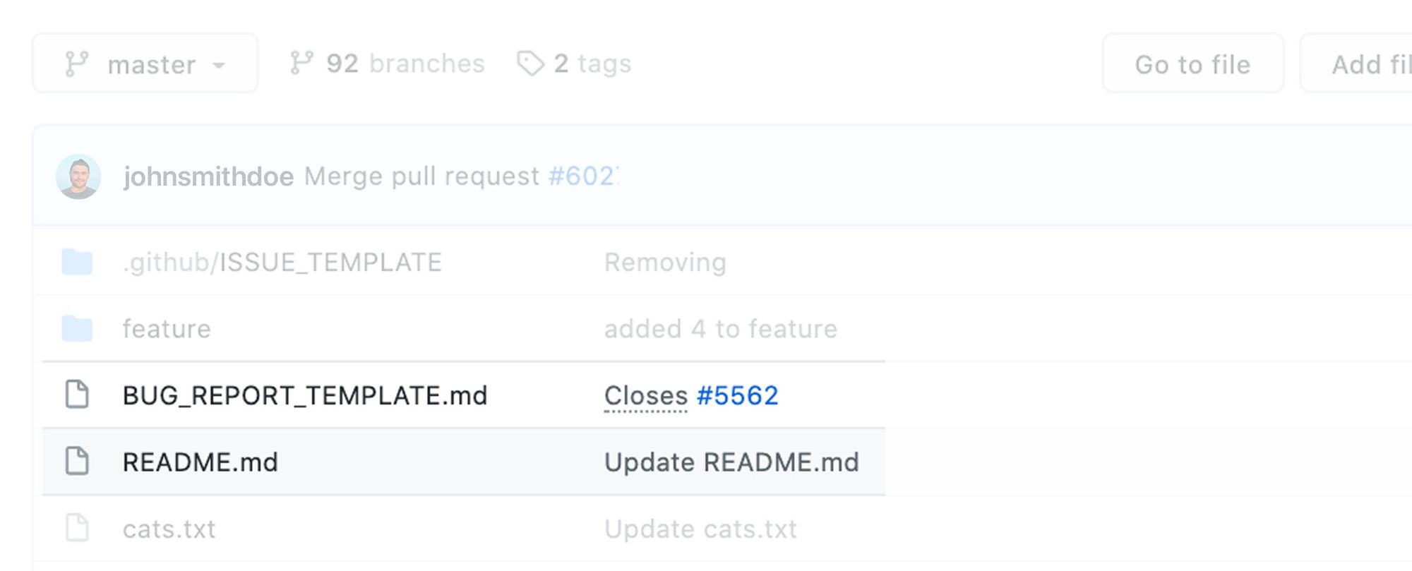 a look at a README.md file in GitHub