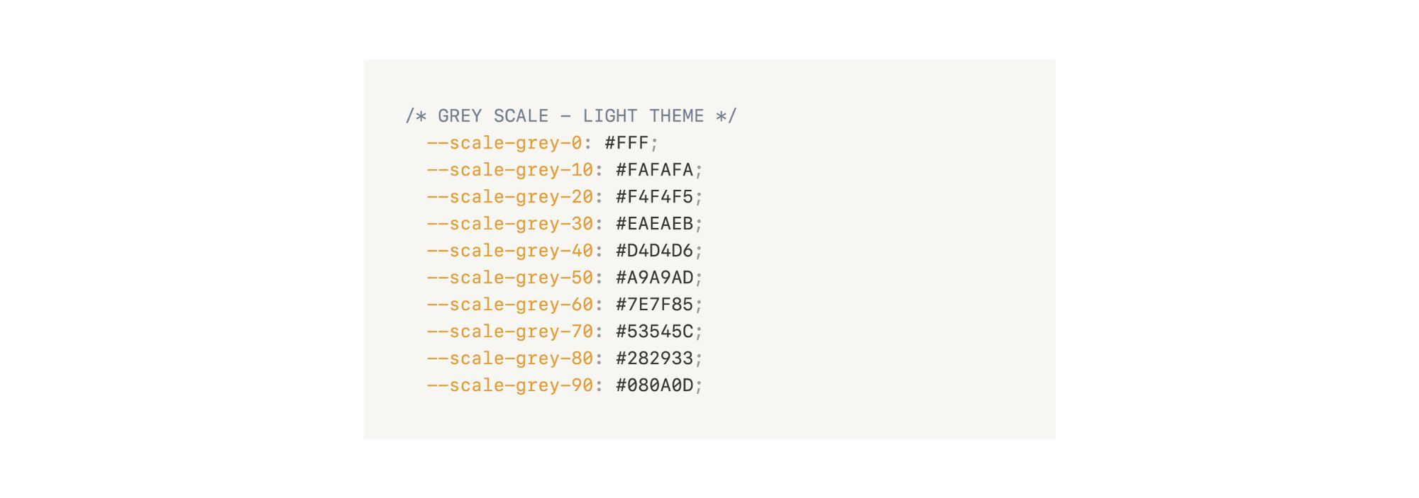 Image of the scale for grey